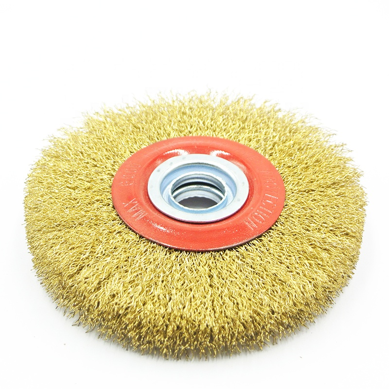 Brass Coated Wire Wheel Brush